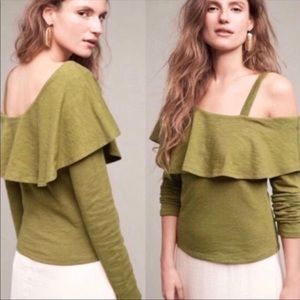 NEW Postmark Anthropologie One Shoulder Top